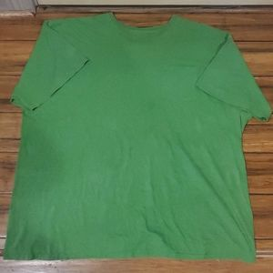 Fruit of the Loom Mens Green Tshirt Size 4xl